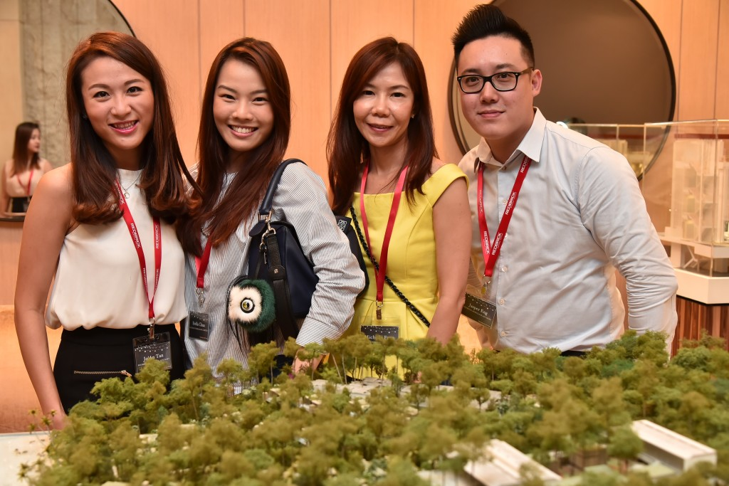 (L-R): Jo'An Tan (Associate Director, Redbrick Mortgage Advisory), Stella Chua (Vice President, Strategic Alliance, Business Banking, UOB), Michelle Fuan (Manager, Strategic Alliance, Business Banking, UOB), Jasper Eng (Associate Director, Redbrick Mortgage Advisory)