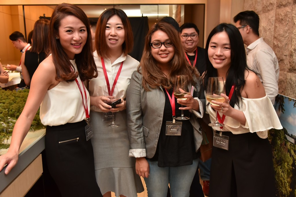 (L-R): Jo'An Tan (Associate Director, Redbrick Mortgage Advisory), Zhao Yingxue (Account Manager, DREA), Rekha (Digital Marketing Specialist, DREA), Yuet Whey (CEO, DREA)